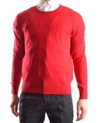 Burberry - Men's Mcbi056191o Red Cotton Sweater - Lyst