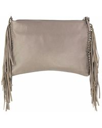 Mofe - Kalon Convertible Leather Fringe Crossbody, Clutch And Wristlet With Adjustable Shoulder Strap - Lyst