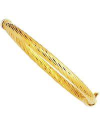 Jewelry Affairs - 14k Yellow Twisted Gold Women's Bangle Bracelet, 7 - Lyst