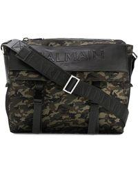 Balmain - Men's Brown Polyamide Messenger Bag - Lyst