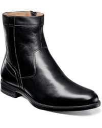 Florsheim - Men's Midtown Plain Toe Zip Boot 12140-001 Black - Black - Lyst