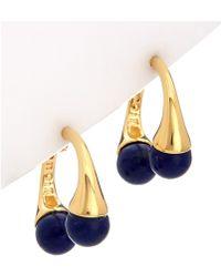 Noir Jewelry - 18k Plated Lapis Earrings - Lyst