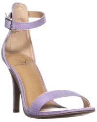 Material Girl - Mg35 Blaire5 Ankle Strap Heels, Lavender Micro - Lyst