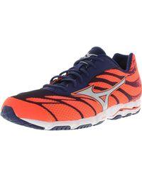 Mizuno - Women's Wave Hitogami 3 Orange / Silver Blue Ankle-high Running Shoe - 6m - Lyst