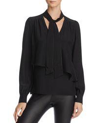 Parker - Womens Kinsley Silk Drapey Pullover Top - Lyst