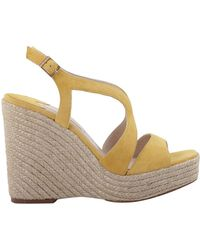 Paloma Barceló - Women's Yellow Leather Wedges - Lyst