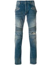 Balmain - Men's Blue Cotton Jeans - Lyst