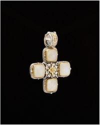 Konstantino - Erato 18k & Silver 8.00 Ct. Tw. Labradorite Cross Enhancer - Lyst