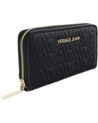 Versace Jeans - Ee3vrbpy2 Black Continental Wallet - Lyst