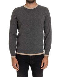 Brunello Cucinelli - Men's Grey Cashmere Sweater - Lyst