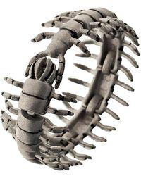 Ametallo - Scarafaggio Stainless Steel Bracelet - Lyst