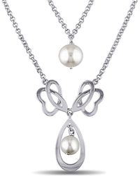 Julianna B - White Freshwater Cultured Pearl 18in Necklace - Lyst