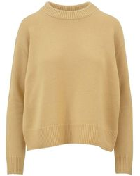 Vince - Women's Yellow Cashmere Sweater - Lyst