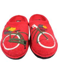 Haflinger - Mens Flair Bicycle Closed Toe Slip On Slippers - Lyst