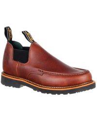 "Georgia Boot - Men's Gb00165 4"" Giant Moc Toe Romeo Work Shoe - Lyst"