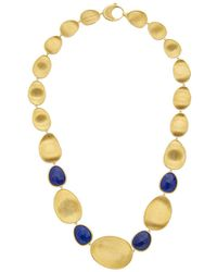 Marco Bicego - Lunaria 18k Yellow Gold Lapis Necklace - Lyst