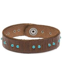 Orciani - Men's Brown Leather Bracelet - Lyst