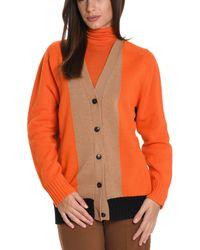 Jucca - Women's Orange Wool Cardigan - Lyst