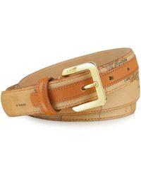Alviero Martini 1A Classe - Women's Brown Faux Leather Belt - Lyst