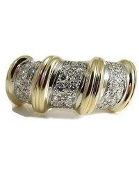 Roberto Coin - 18k Yellow Gold Diamond Nabucco Ring-size 6.5 - Lyst