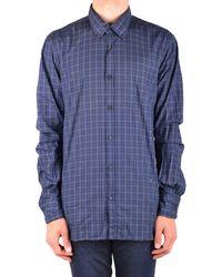Dondup - Men's Mcbi100157o Blue Cotton Shirt - Lyst