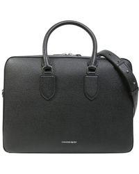 Alexander McQueen - Men's Black Leather Briefcase - Lyst