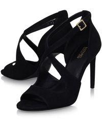 MICHAEL Michael Kors - Womens Estee Sandal Leather Open Toe Casual Ankle Strap ... - Lyst
