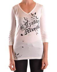 Frankie Morello - Women's White Cotton T-shirt - Lyst