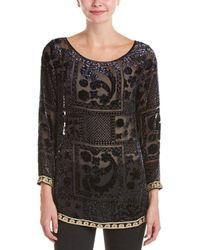 Calypso St. Barth - Mianette Embroidered Silk-blend Top - Lyst