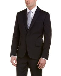 Roberto Cavalli - Slim Fit Wool Suit With Flat Front Pant - Lyst