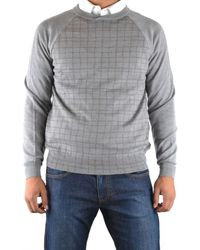 Armani - Men's Pcm53mpc24m600 Grey Wool Sweater - Lyst