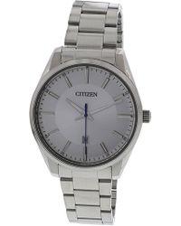 Citizen - Women's Bi1030-53a Silver Stainless-steel Japanese Quartz Dress Watch - Lyst