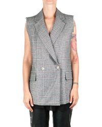 8pm - Women's Grey Wool Vest - Lyst