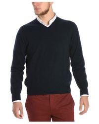 Cruciani - Men's Blue Cashmere Sweater - Lyst
