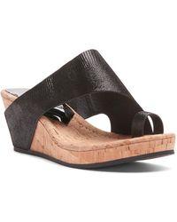 Donald J Pliner - Gyer2 Leather Wedge Sandal - Lyst