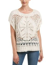 eb5752bce Lyst - Free People Womens Snowbird Cable Knit Turtleneck Sweater in ...