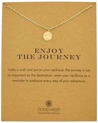 Dogeared - 14k Over Silver Enjoy The Journey Necklace - Lyst