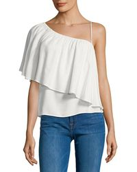 Ella Moss - One Shoulder Solid Blouse - Lyst