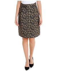 Les Copains | Women's Yellow/black Polyamide Skirt | Lyst