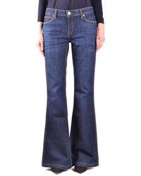 Burberry - Women's Black Cotton Jeans - Lyst