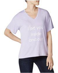 Peace Love World - Mia Love Graphic V-neck T-shirt Top - Lyst