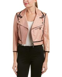 RED Valentino - Leather Jacket - Lyst