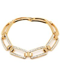 Peermont - Gold And Swarovski Elements Link Bracelet - Lyst