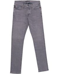 Tom Ford - Denim Jeans Dark Grey Wash Regular Fit Model - Lyst