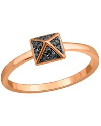 Socheec - Spike Ring With Black Diamonds In 18k - Lyst