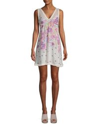 8e7ebb8da52 Free People - Longwood Printed Mini Dress - Lyst
