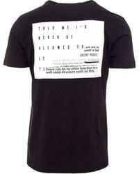 Antony Morato - Men's Black Cotton T-shirt - Lyst