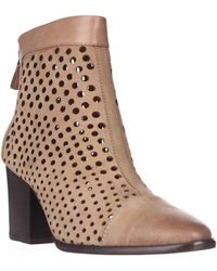 Rebecca Minkoff - Bedford Perforated Ankle Boots - Tan - Lyst