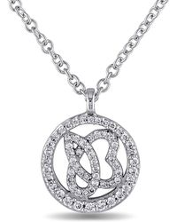 Julianna B - 1/4 Ct Diamond Tw And 14k White Gold Necklace - Lyst