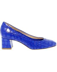 Fabi - Women's Blue Leather Pumps - Lyst